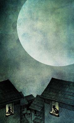 A never ending moon.