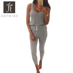 664ef88119 Cheap belt hole, Buy Quality belt skull directly from China belt women  Suppliers: 2016 Trend Summer Low Cut Rompers Womens Sleeveless Jumpsuit  Grey Elastic ...