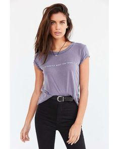 Truly Madly Deeply | Purple Exactly What You Think Tee | Lyst