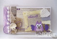 card summer beach shells wood work, ice cream cone Marianne design die set LR0365 - owl die set - byMarleen: juli 2015