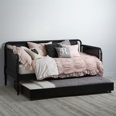 K+O, thinking I might want the daybed.  Can I still put under the window? Jenny Lind Daybed (Black) | The Land of Nod