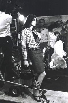 Vanessa Redgrave on the set of Blow Up