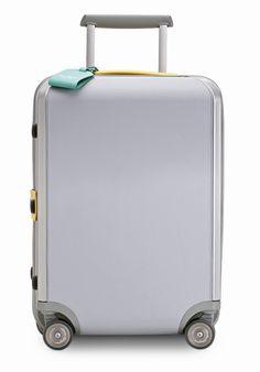 Ferragamo Travel Grey Leather Trolley