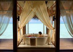 Anantara Dhigu Resort & Spa - Maldives - Seriously the BEST tub spot EVER