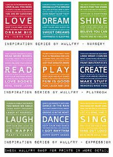 WALLFRY - Inspirational Poster Art - Colorful Wall Art for Kid Spaces