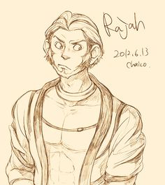 Rajah, Princess Jasmine's tiger, as a human. If he had been a human...what would that have done to the story... Disney animals as humans...*_*...so glad this has happened.