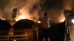 Gewaltige Buschfeuer in Kalifornien