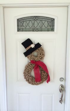 Hey, I found this really awesome Etsy listing at https://www.etsy.com/listing/210125568/snowman-wreath-burlap-wreath-christmas