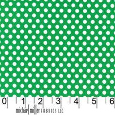 Michael Miller House Designer - Dots - Kiss Dot in Grass