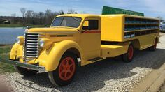 1939 Diamond T Truck with Beverage Trailer