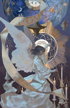 illustration by awanqi Art Inspo, Kunst Inspo, Inspiration Art, Art And Illustration, Anime Kunst, Anime Art, Bel Art, Creation Art, Fantasy Kunst