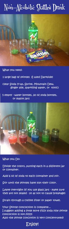 Make a Non-alcoholic Skittles Drink!                              …