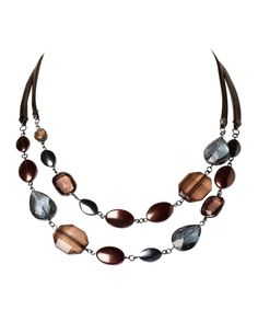 cleo - Short Double Strand Jewel Necklace