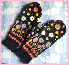 Bloomin' Happy Mittens Ravelry: Bloomin' Happy Mittens History of Knitting Yarn spinning, weaving and sewing jobs such as for exa. Fingerless Mittens, Knit Mittens, Knitted Gloves, Loom Knitting Patterns, Knitting Projects, Crochet Patterns, Knitting Tutorials, Hat Patterns, Stitch Patterns