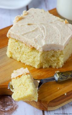 browned-butter-cake-with-browned-butter-frosting| HollysCheatDay.com