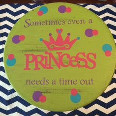 Time out stool Sometimes even a princess needs a by LCTBoutique, $39.95