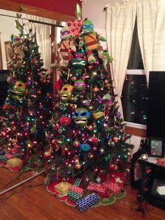 Ninja Turtle Christmas tree! Made by my mom and sister.