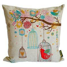 Debage Inc Birds Feather-filled Decorative Throw Pillow