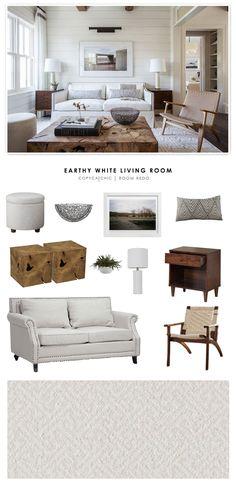 Copy Cat Chic Room Redo | Earthy White Living Room