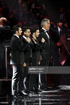 Il volo and Andrea Bocelli perform at Bocelli and Zanetti Night on May 25, 2016 in Rho, Italy.