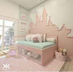 65 beautiful baby girl nursery room ideas 18 Design And Decoration Baby Bedroom, Baby Room Decor, Nursery Room, Girl Nursery, Girls Bedroom, Bedrooms, Girl Bedroom Designs, Kids Room Design, Little Girl Rooms