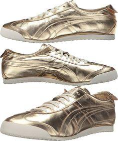 Onitsuka Tiger by Asics Unisex Mexico 66 Gold/Gold Sneaker Men's 6, Women's 7.5 Medium