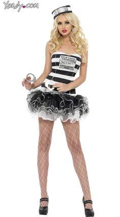 566 best halloween images on pinterest fashion women feminine convict cutie tutu costume sexy prisoner costume sexy prisoner outfit solutioingenieria Images