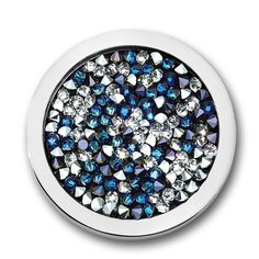 Mi Moneda Swarovski Deluxe Multi stainless steel with Pacific Blue Swarovski crystals moneda