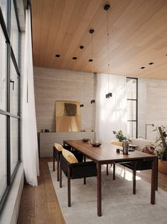 Brutalist Residential Building by Studio Rick Joy Project: Tennyson 205 Architects: Studio Rick Joy Location: Mexico City, Mexico Photographer: Joe Fletcher Timber Planks, Timber Flooring, Patio Interior, Interior Design, Minimalist Furniture, Pent House, Brutalist, Mexico City, Architecture Design