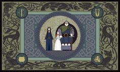 Brave family tapestry