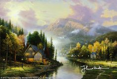 Simpler Times I by Thomas Kinkade-one of my Kinkades!