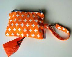 Poop bag holder- for dog leash  No pattern, but easy to copy.