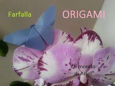 DIY FARFALLA ORIGAMI,farfalla di carta semplice e veloce - YouTube
