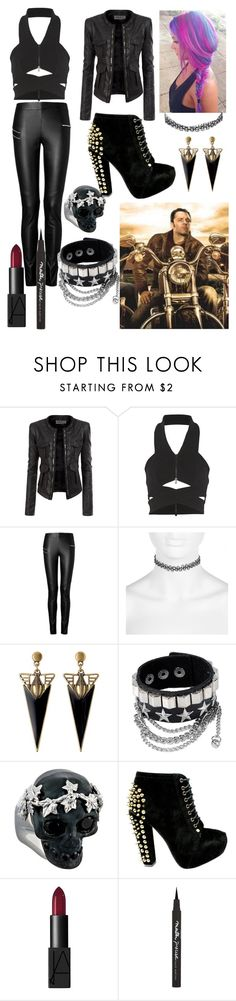 """""""Motorcycle Photoshoot With Dean Ambrose"""" by deanambrosegrlwwe ❤ liked on Polyvore featuring Doublju, Dion Lee, Joseph, River Island, Alexander McQueen and Maybelline"""