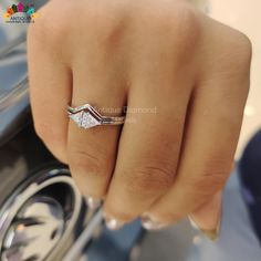 Modelling Photography, Bridal Sets, Moissanite, Heart Ring, Triangle, Rings, Jewelry, Fashion, Moda