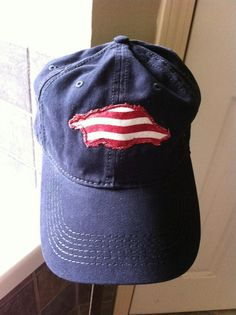 Items similar to Razorback appliqueTwill Cap 773aeb372e3c
