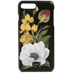 Dolce & Gabbana Women Flower Print Iphone 7 Plus Case (€250) ❤ liked on Polyvore featuring accessories, tech accessories, phone cases, phone, fillers, technology and black