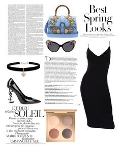 """""""pure luxus"""" by lord-of-fashion ❤ liked on Polyvore featuring Gucci, Betsey Johnson, Yves Saint Laurent, Balmain, H&M, Michael Kors, Dsquared2, Ultimate and fabulous"""