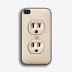 Plug iPhone case for iPhone 4 and 4S by iCaseSeraSera on Etsy, $17.99