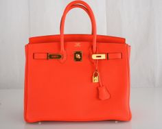 Hermes Capucine Togo 35cm Birkin Bag