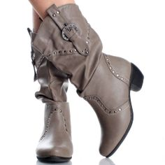 Cute Western Outfits for Women | Gray Womens Cowboy Boots Western Cowgirl Roper Cute Faux Leather Heels ...