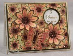 Heartfelt Creations | Autumn Daisy Background Card