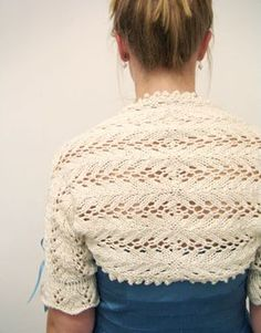 Now that winter is nearly over Ive finally found my knitting needles again! This lace shrug: so pretty