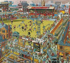 Sheffield Utd centenary painting by local artist Joe Scarborough. This features on the front cover of the matchday programme produced for the final home game of the season v Swansea City.