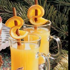 Garnish Drinks with Citrus Twists: If you're looking for a warm way to greet guests on a cool evening, try Hot Cider with Orange Twists. The steaming spiced beverage looks impressive with its citrusy cinnamon stirrers. You don't need a long list of supplies to put together these gorgeous garnishes, so assembly is a snap.