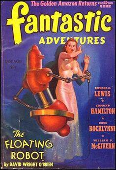 Fantastic Adventures, (Jan. 1941), cover by Harold W. McCauley