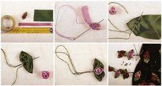 украшаем розами из лент шарф                                                                                                                                                      Más