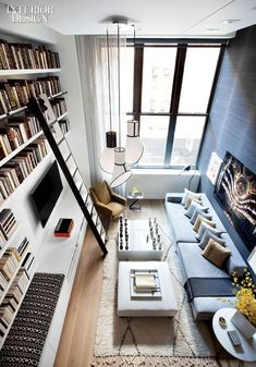 Perfect little apartment for a bookish person!