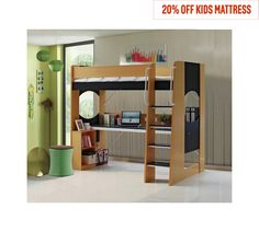 Buy HOME Large Desk Study High Sleeper Bed Frame - Beech at Argos.co.uk, visit Argos.co.uk to shop online for Children's beds, Children's furniture, Home and garden
