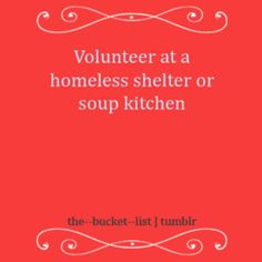I have done this so many times growing up. I need to start doing it again. Feels so good to help others in need.